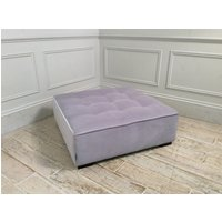 Product photograph showing Alice Footstool In Bellagio Velvet