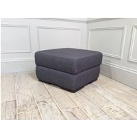 Product photograph showing Italian Medium Storage Ottoman In Grecale