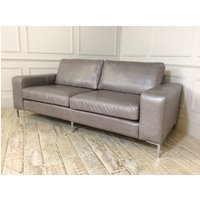 Product photograph showing Kingly 3 5 Seater Leather Sofa In Slate