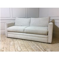 Product photograph showing Bromley 3 5 Seater Sofa In Broad Weave Linen - Bone