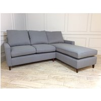 Product photograph showing Beckenham 2 Seater Chaise Sofa Bed In Wolf Grey