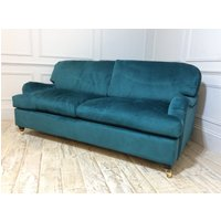 Product photograph showing Helston 3 5 Seater Fabric Sofa In Teal