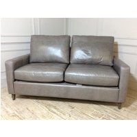 Product photograph showing Beckenham 3 Seater Leather Sofa Bed In Slate