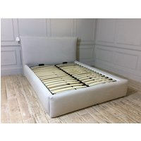 Dean Ottoman King Bed Frame in Imperio Silver