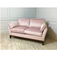 Product photograph showing Exmouth 2 Seater Fabric Sofa Bed In Carnation Pink