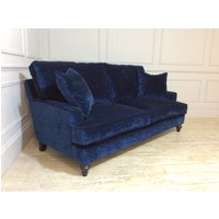 Product photograph showing Whinfell Medium Sofa In Crushed Velvet Blue