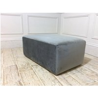 Product photograph showing Milano Footstool In Brezza 03