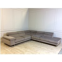 Product photograph showing Milano Large Corner Sofa In Brezza Velvet 16