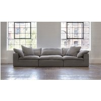 Product photograph showing Feather Extra Deep Fabric 5 Seater Sofa