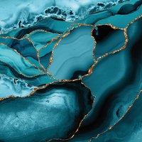 Samsung Galaxy S8 Plus - Silicone Case - Eisblaue Marmor Landschaft