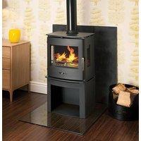 Newbourne 40FS Panorama Multifuel Stove With 200mm Log Store