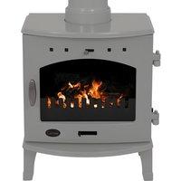 Carron Ash Grey Enamel 4 7kW Multifuel DEFRA Approved Stove