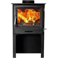 Cast Tec Horizon 5 Defra Approved Multi Fuel Stove with Logstore