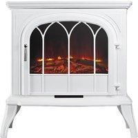 Eko Fires 1250 LED White Electric Stove