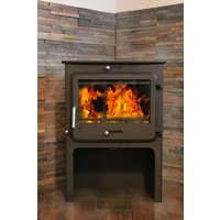 Ekol Clarity High 12kW Wood Burning   Multi Fuel DEFRA Approved Stove