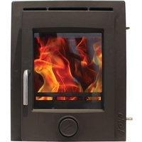 Ekol Inset 8kW Matt Black Wood Burning   Multi Fuel DEFRA Approved Stove