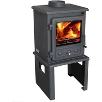 Firefox 5 Multi Fuel   Wood Burning Stove with Europa Log Stand