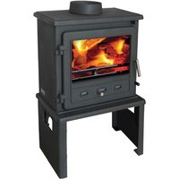 Firefox 8 Multi Fuel   Wood Burning Stove with Europa Log Stand
