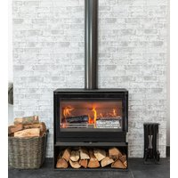 Mendip Christon 750 Eco Design Ready Wood Burning Stove with Logstore
