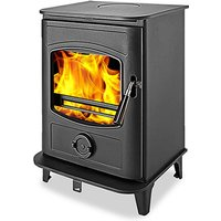 Graphite 8 DEFRA Approved Wood Burning Multifuel Stove