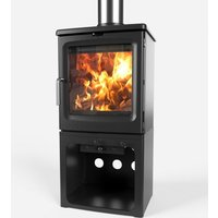 Saltfire Peanut 5 Tall Wood Burning   Multi Fuel Eco Design Stove