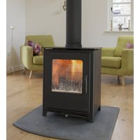Mendip Loxton 8 Defra Approved Double Sided 8kW Wood Burning   Multi Fuel Stove