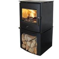 Newbourne 40FS Eco Design Multifuel Stove With 400mm Log Store