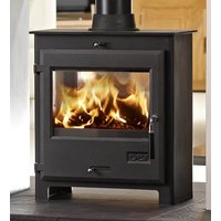 OER 7 Black Double Sided Defra Approved Multi Fuel Stove