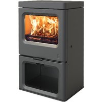 Special Offer   Charnwood Skye 5 Defra Approved Multi Fuel Stove with Log Store   Gun Metal