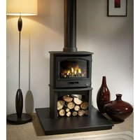 Tiger Wood Burning   Multifuel Stove with Europa Log Stand