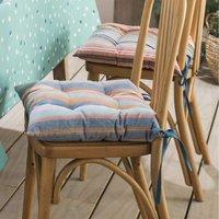 Pour la Table. Finition nouettes. Tissu extérieur 100% coton tissé teint rayé Lavage à 30°