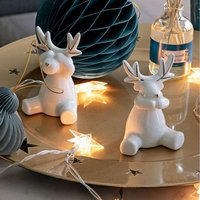 Accessoires de Table. En céramique blanc. Finition doré métallique. Céramique