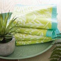 Pour la Table. Motifs imprimés, finition bourdon 50% coton, 50% polyester Lavage à 40°