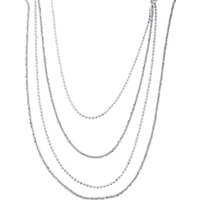 "16""-20"" Adjustable Sterling Silver Diamond Cut Slider Graduate Necklace 18.53g"