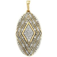 1/4ct Diamond Gold Plated Sterling Silver Pendant
