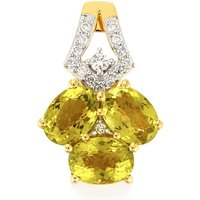 Cuprian Tourmaline Pendant With Diamond In 14k Gold 2.86cts