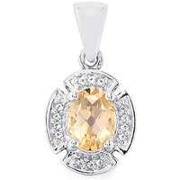 1.50ct Galileia & White Topaz Sterling Silver Pendant