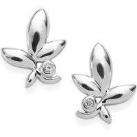 White Topaz Earrings In Sterling Silver 0.04ct