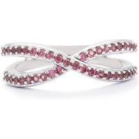 0.56ct Rhodolite Garnet Sterling Silver Ring