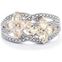 1.16ct Zambezia Morganite Sterling Silver Ring