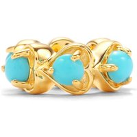 Sleeping Beauty Turquoise Kama Bead Charm In Gold Plated Sterling Silver 0.54ct