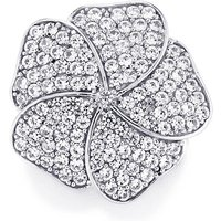 White Zircon Pendant In Sterling Silver 1.64cts