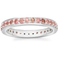 0.77ct Natural Pink Tourmaline Sterling Silver Ring
