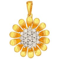 1/2ct Diamond Pendant In Gold Plated Sterling Silver