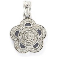 0.33ct Diamond Sterling Silver Pendant