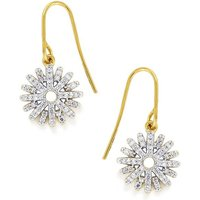 1/4ct Diamond Gold Plated Sterling Silver Earrings
