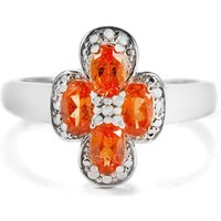 1.27ct Serengeti Spessartite Garnet Sterling Silver Ring