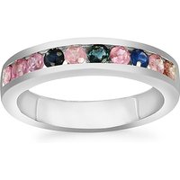 0.88ct Fancy Sapphire Sterling Silver Ring
