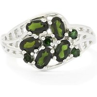 1.21ct Chrome Tourmaline Sterling Silver Ring