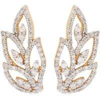 1/2ct Diamond Earrings In 9k Gold